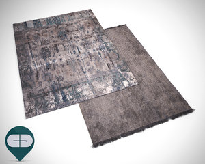 3d rugs stacked model