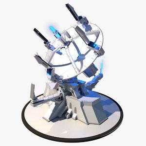 obj sci-fi radar