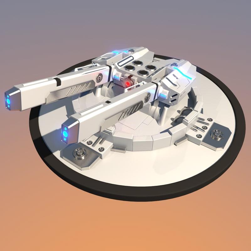 3d futuristic sci-fi tourette model