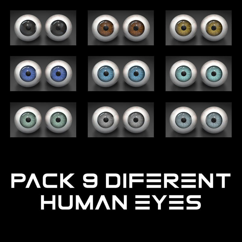 3ds human eyes