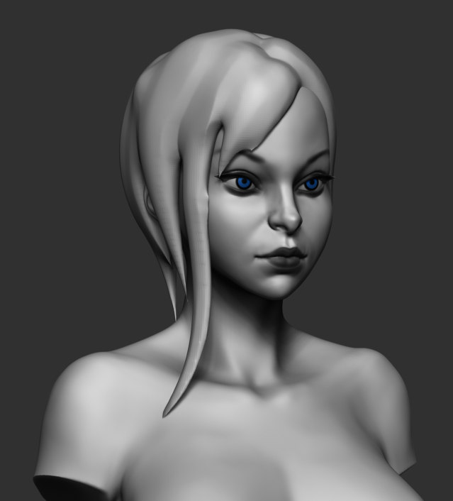 stylized girl 3d model