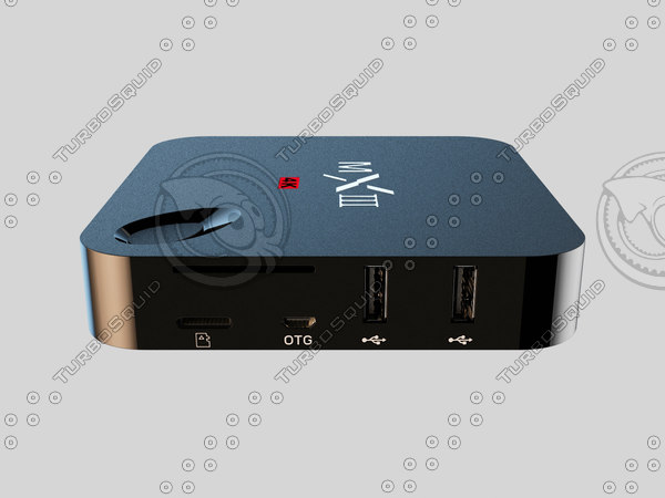 android tv box 3d model
