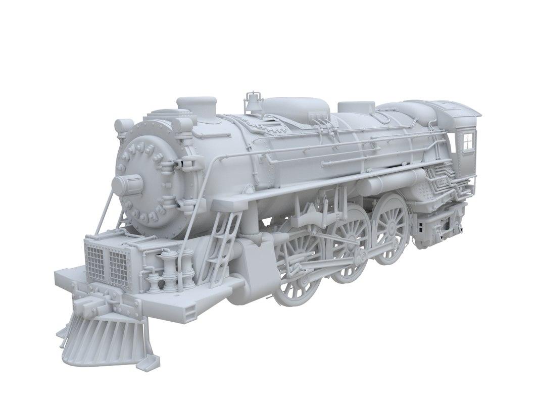 3d 3ds train engine
