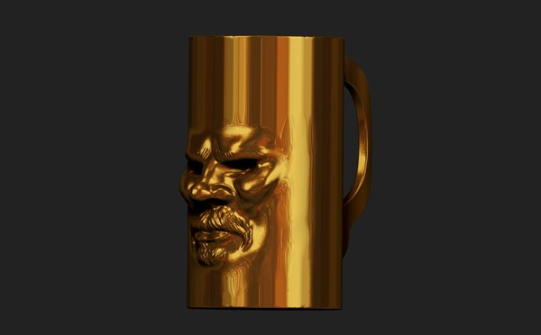 zbrush beer glass 3d 3ds