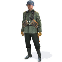Soldier WW2 German Waffen SS Soldier HD