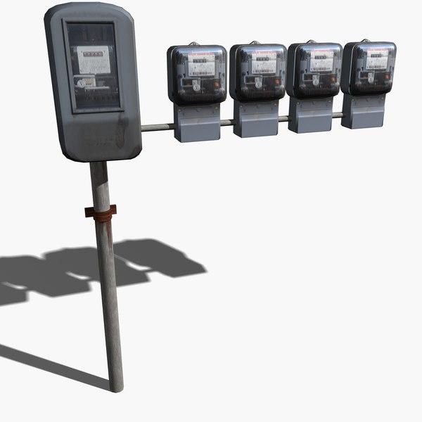utility meter 3d model