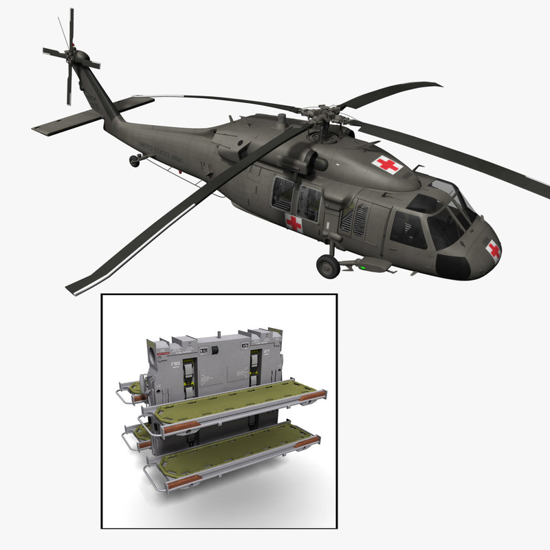 3d purchase uh-60l medevac helicopter model