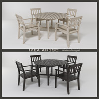 3d model outdoor table chairs ikea