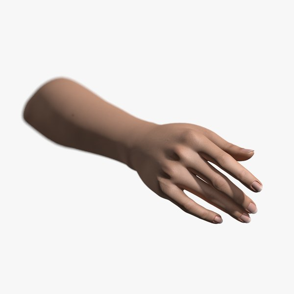 3d model rigged hand female