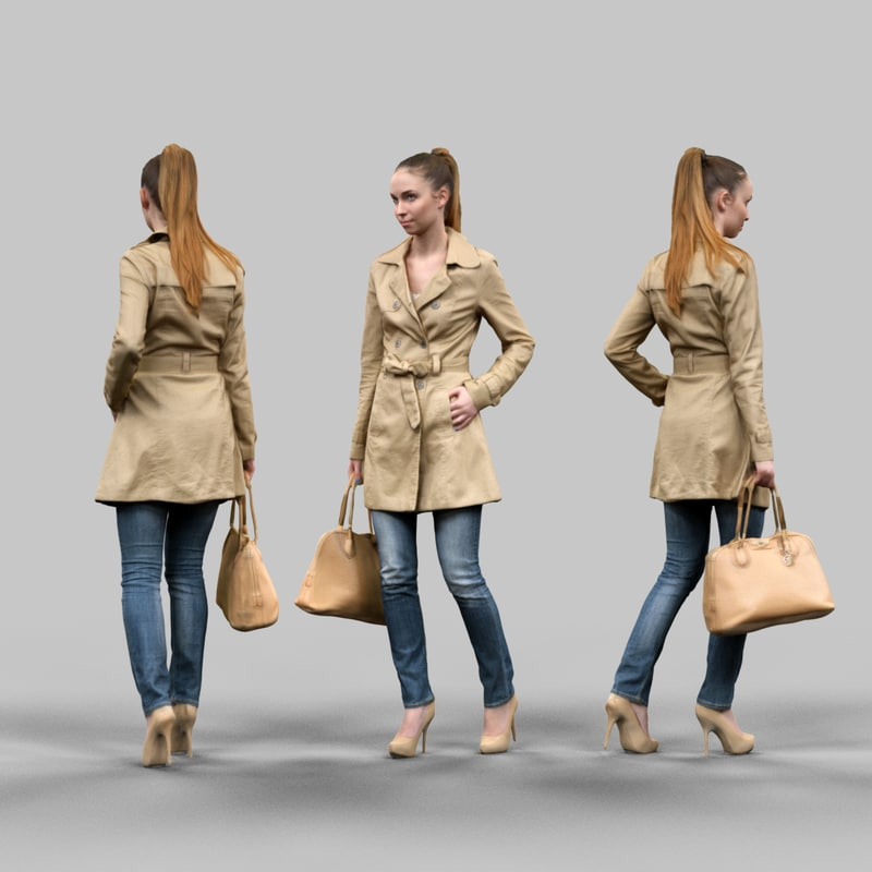 fbx girl raincoat