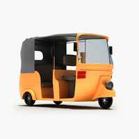3d rickshaw modeled model