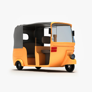 3d rickshaw modeled model