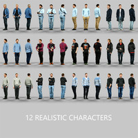 12 Realistic Male Characters