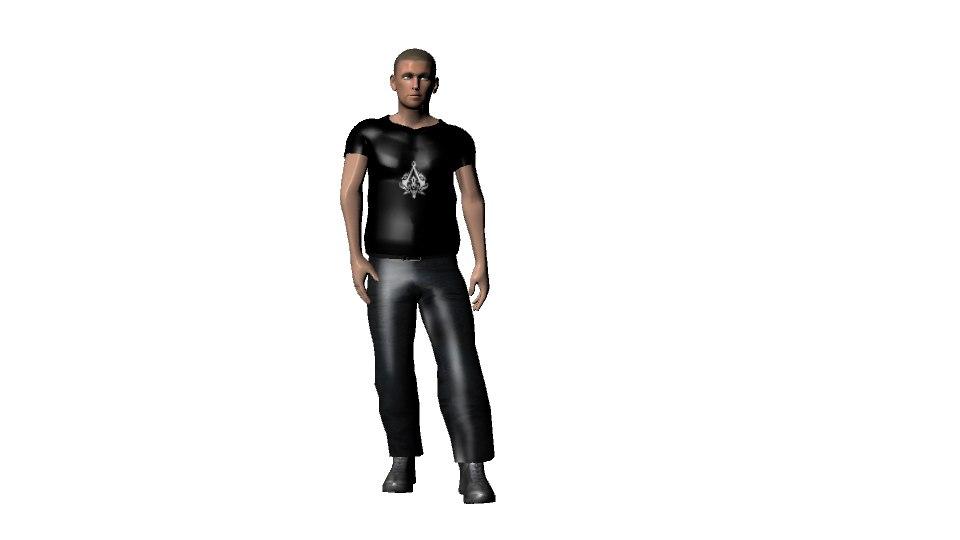 character rigging 3d model