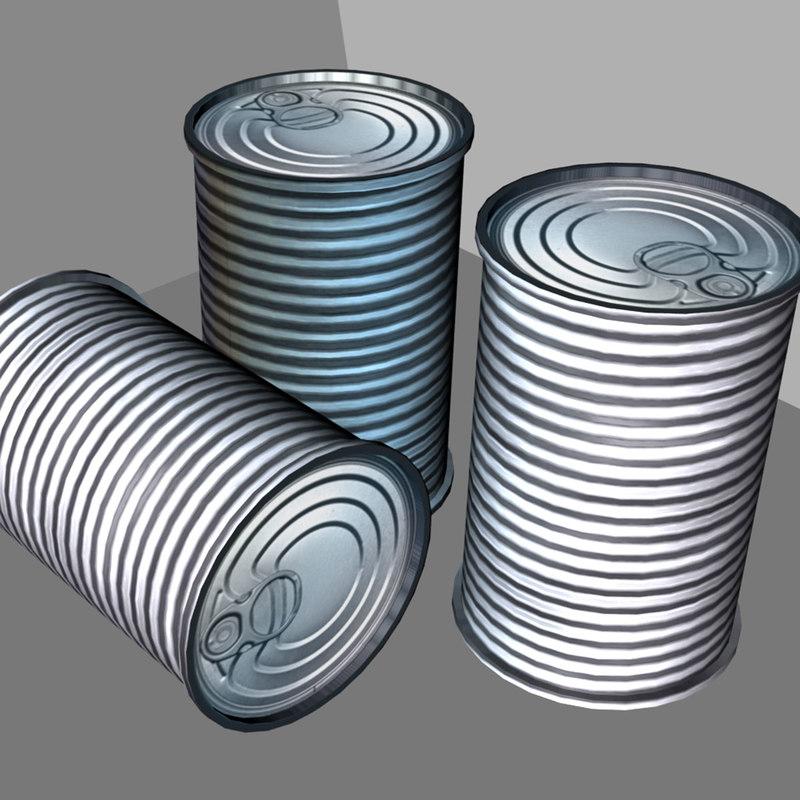 3d model tin