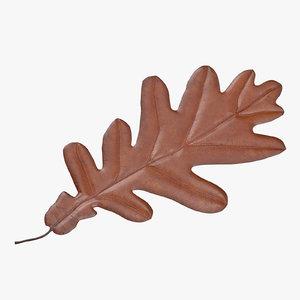 orange oak leaf 3d max