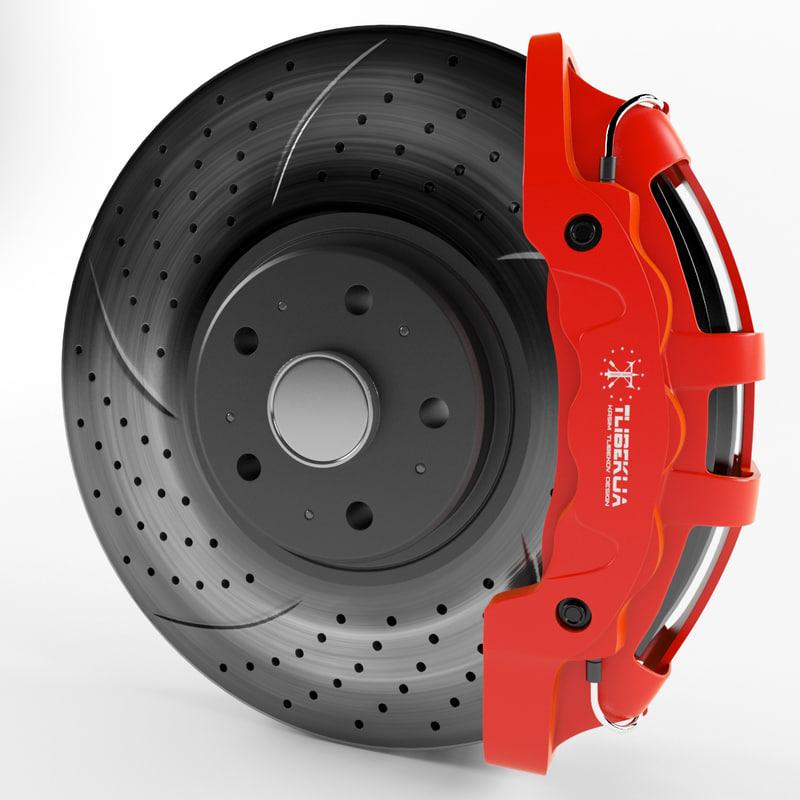 3d sport brakes model