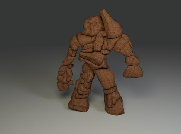 3d rock monster model