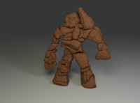 3d rock monster model