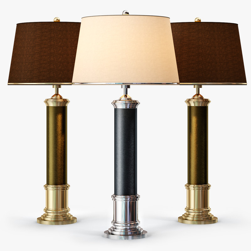 3d frederick cooper leather column model