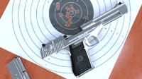 3d weapons pistol eagle model