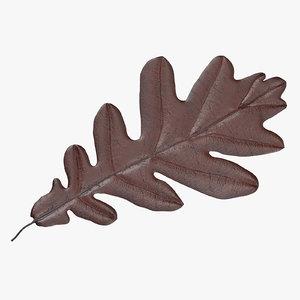 brown oak leaf 3d model