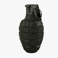 grenade realistic 3d max