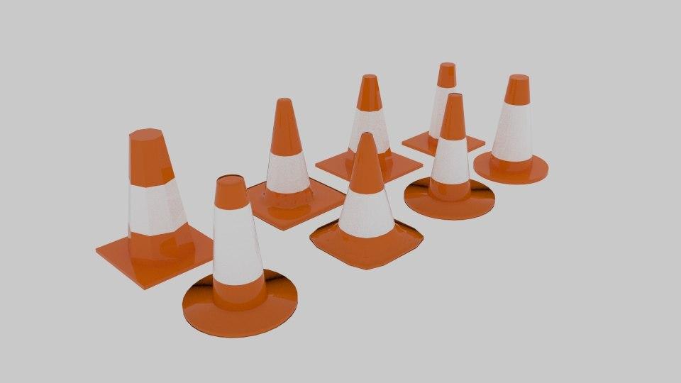 free 3ds model traffic cone