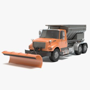 3d model of snow plow