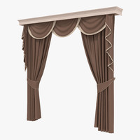 curtain 6 brown 3d model