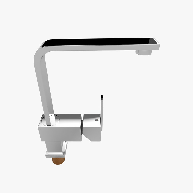 faucet modern kitchen 3d model