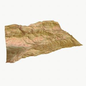 hills cliffs terrain 3d x