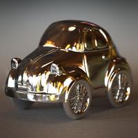little silver jewelry car 3d obj