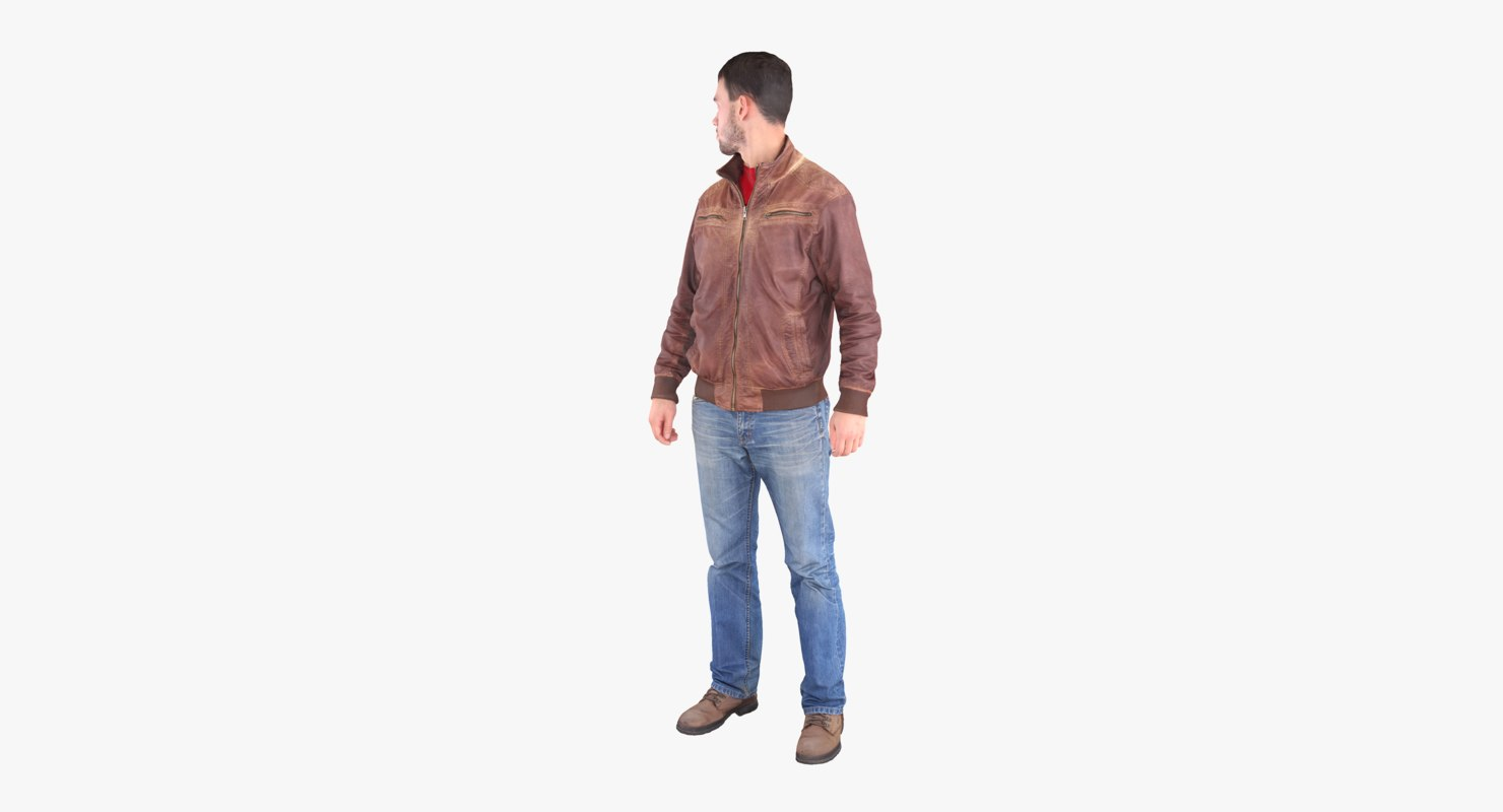 3d model casual man scan