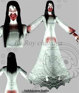 ghost kuntilanak west 3d model