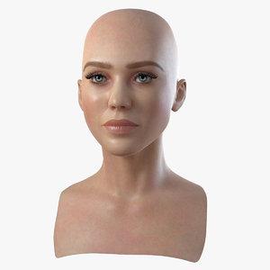 3d head woman 1