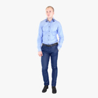 businessman fullbody scan 3d max