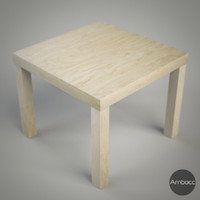 IKEA Inspired Lack Side Table, Multi Color - 55x55x45cm