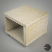 IKEA Inspired Lack Side Table on Casters, Multi Color - 55x55x45cm