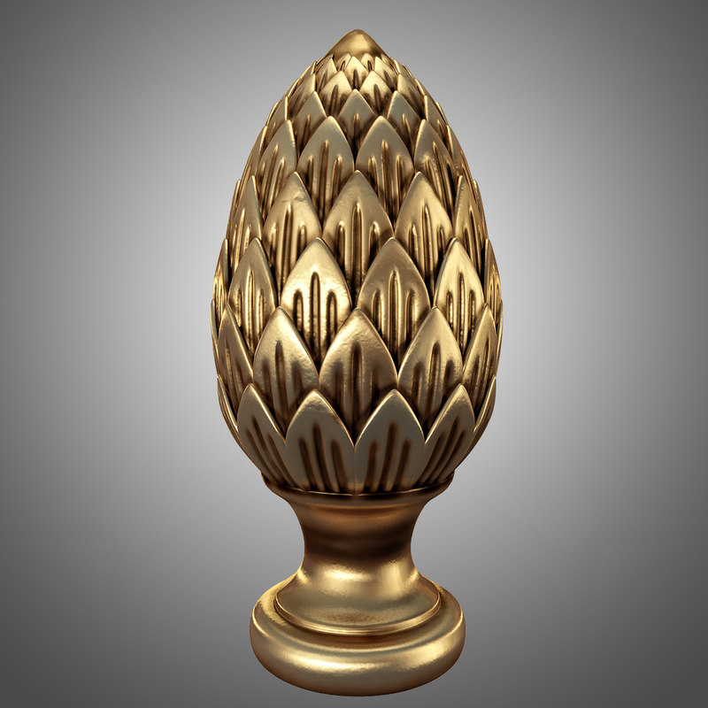 pinecone decor 3d obj