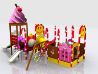 candy playland 3d model