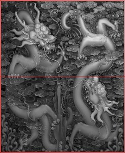 dragon chinese relief 3d model