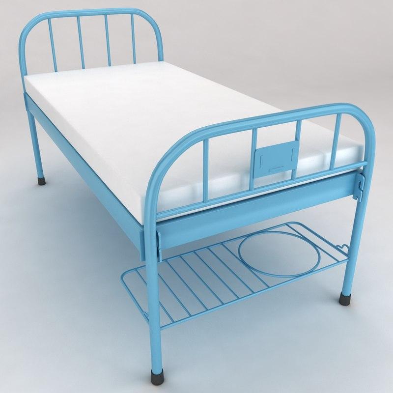 hospital medical bed 1 3d obj
