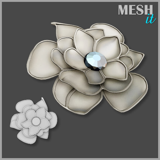 3d flower decor model