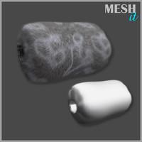 3d model muff fur