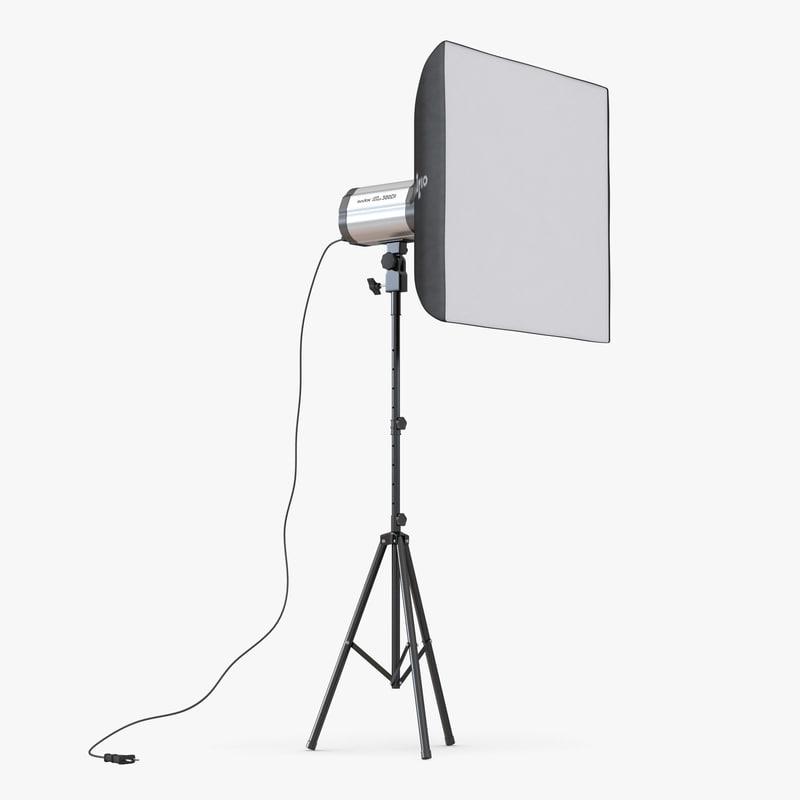 professional studio lighting softbox 3d model