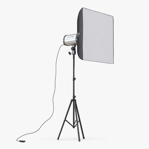 professional studio lighting softbox 3d model
