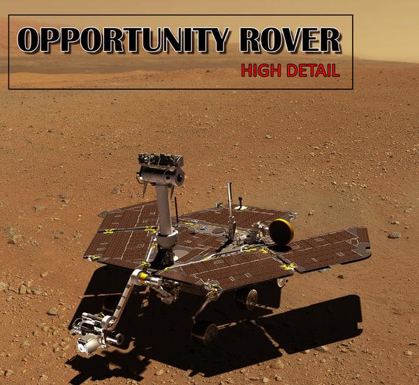 3d model mars opportunity rover