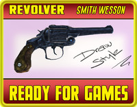revolver smith wesson 3d obj