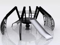 3d spiderweb climber
